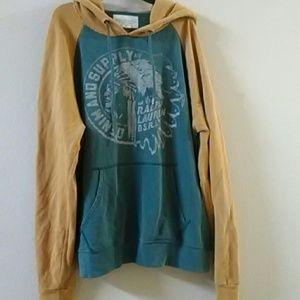 VTG Ralph Lauren Denim and Supply Indian Hoodie XL